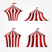 stock photo of tarp  - four variations of circus tent - JPG