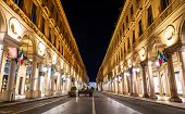 foto of turin  - Via Roma a street in the center of Turin  - JPG