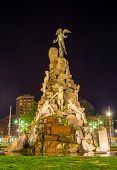 stock photo of turin  - Monument to the Frejus Tunnel on Piazza Statuto in Turin  - JPG