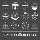 image of mass media  - Vector collection of photography and videography logo templates - JPG