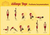 pic of pranayama  - Common sequence of asanas in the practice of Yoga Surya Namaskar - JPG