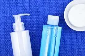 stock photo of cleanse  - Daily cleansing cosmetics  - JPG