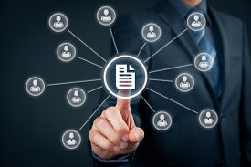stock photo of intranet  - Corporate data management system  - JPG