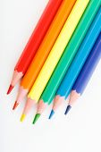 Color Pencils Isolated On White Background. Many Different Colored Pencils. Colored Drawing Pencils poster
