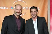 LOS ANGELES - JUL 30:  Corey Stoll & Skeet Ulrich arrive at the 2010 NBC Summer Press Tour Party at