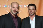 LOS ANGELES - JUL 30:  Corey Stoll & Skeet Ulrich arrives  at the 2010 NBC Summer Press Tour Party a