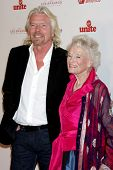 LOS ANGELES - NOV 11:  Richard Branson, Eve Branson arrives at the Rock the Kabash Gala 2010 at Doro