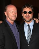 LOS ANGELES - NOV 16:  Paul Haggis, Russell Crowe arrives at