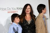 LOS ANGELES - DEC 13:  Jennifer Nicholson & Children at Heather Tom's Annual Christmas Party 2010 at
