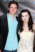 LOS ANGELES - DEC 14:  Michael Christopher Bolten, Jillian Clare, attend the