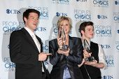 LOS ANGELES - JAN 5:  Cory Monteith, Jane Lynch, Chris Colfer arrives at 2011 People's Choice Awards at Nokia Theater at LA Live on January 5, 2011 in Los Angeles, CA