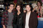 LOS ANGELES - DEC 17:  Josh Heine, Jo Bozarth,  Bradford Anderson  on set during the making of the movie