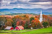 Peacham, Vermont, USA rural autumn scene. poster