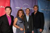 PASADENA, CA - JAN 13:  Bobby Flay, Lorena Garcia, Steve Ellis, Curtis Stone arrives at the NBC TCA