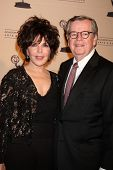 LOS ANGELES - JAN 20:  Carol Bayer Sager, Bob Daly arrives at the ATASHall of Fame Committe's 20th A