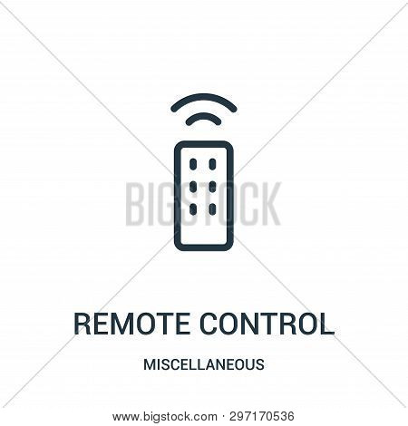 poster of Remote Control Icon Isolated On White Background From Miscellaneous Collection. Remote Control Icon