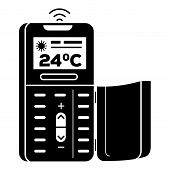 Remote Control Air Conditioner Icon. Simple Illustration Of Remote Control Air Conditioner Vector Ic poster