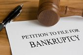 picture of petition  - Bankruptcy concept with judge - JPG