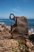 San Sebastian Coastline Landscape In Peine De Los Vientos poster
