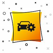 Black Car Service Icon Isolated On White Background. Auto Mechanic Service. Mechanic Service. Repair poster