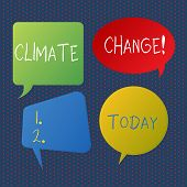 Handwriting Text Writing Climate Change. Concept Meaning Difference In Global Or Regional Climate Ve poster