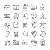 Ux Line Icons. Set Of Question Mark, Ab Testing And Journey Path Map Icons. Usability Quiz Test, Ux  poster