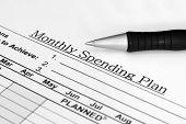 monatliche Ausgaben-plan