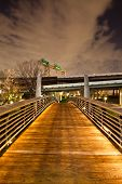 picture of bayou  - This bridge near downtown Houston allow walkers - JPG