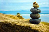 Zen Stone empilhados juntos