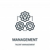Management Icon Isolated On White Background From Talent Management Collection. Management Icon Tren poster
