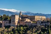 View Of Alhambra Palace In Granada, Spain In Europe poster