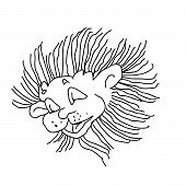 Funny Lion Drawing