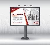Billboard Banner Template Vector Design, Advertisement, Realistic Construction For Outdoor Advertisi poster