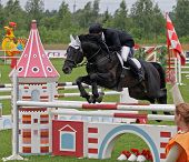 Sports Competitions Of Horsemen On Overcoming Of Obstacles