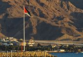 View to Aqaba from the Northen beach of Eilat