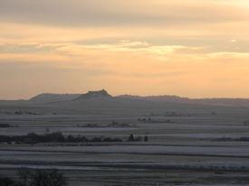 stock photo of western nebraska  - Western Nebraska landscape on a winter morning - JPG