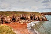 Rocky coastal promontory at Stackpole, Pembrokeshire.