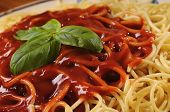 Spaghetti With Tomato And Basil poster