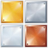 Shine Metallic Signs. Clean Golden, Silver, Platinum and Copper Plates