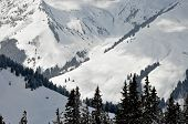 Snow Covered Mountains In Tirol