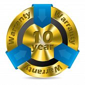 10 Year Warranty Badge Design