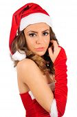 Isolated young christmas woman sensual