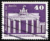 Postage stamp GDR 1973 Brandenburg Gate, Berlin
