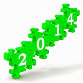 2014 Puzzle Shows New Year's Festivities