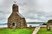 St. Brynach's Church, Cwm-yr-Eglwys, Wales.