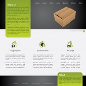 Worldwide Shipping Website Template Design