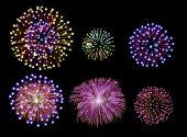 Happy New Year Fireworks Design Set