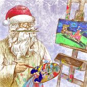 Santa Claus - painter