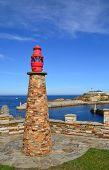 Vista del puerto de Tapia, Asturias