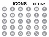 Set Of Round Icons